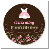 Little Girl Outfit - Personalized Baby Shower Table Confetti