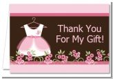Little Girl Outfit - Baby Shower Thank You Cards