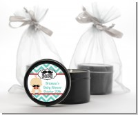 Little Man Mustache - Baby Shower Black Candle Tin Favors