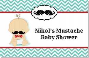 Little Man Mustache - Personalized Baby Shower Placemats
