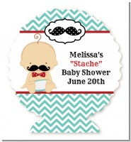 Little Man Mustache - Personalized Baby Shower Centerpiece Stand