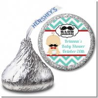 Little Man Mustache - Hershey Kiss Baby Shower Sticker Labels