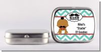Little Man Mustache - Personalized Baby Shower Mint Tins