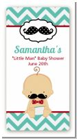 Little Man Mustache - Custom Rectangle Baby Shower Sticker/Labels