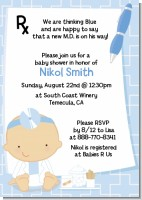 Little Doctor On The Way - Baby Shower Invitations