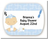 Little Doctor On The Way - Personalized Baby Shower Rounded Corner Stickers