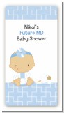 Little Doctor On The Way - Custom Rectangle Baby Shower Sticker/Labels