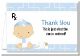 Little Doctor On The Way - Baby Shower Thank You Cards