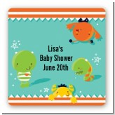 Little Monster - Square Personalized Baby Shower Sticker Labels