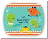 Little Monster - Personalized Baby Shower Rounded Corner Stickers
