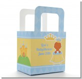Little Prince African American - Personalized Baby Shower Favor Boxes