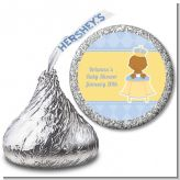 Little Prince African American - Hershey Kiss Baby Shower Sticker Labels