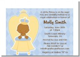 Little Prince African American - Baby Shower Petite Invitations