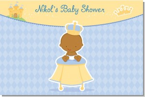 Little Prince African American - Personalized Baby Shower Placemats