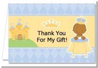 Little Prince African American - Baby Shower Thank You Cards