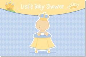Little Prince - Personalized Baby Shower Placemats