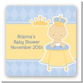 Little Prince - Square Personalized Baby Shower Sticker Labels