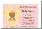 Little Princess African American - Baby Shower Petite Invitations