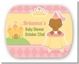 Little Princess African American - Personalized Baby Shower Rounded Corner Stickers
