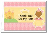 Little Princess African American - Baby Shower Thank You Cards