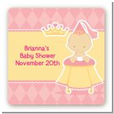 Little Princess - Square Personalized Baby Shower Sticker Labels