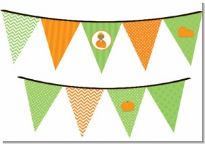 Pumpkin Baby African American - Baby Shower Themed Pennant Set