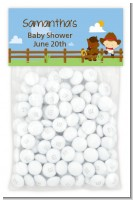 Little Cowboy - Custom Baby Shower Treat Bag Topper