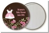 Little Girl Outfit - Personalized Baby Shower Pocket Mirror Favors