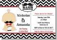 Little Man Mustache Black/Grey - Baby Shower Invitations thumbnail