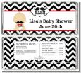 Little Man Mustache Black/Grey - Personalized Baby Shower Candy Bar Wrappers thumbnail