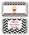 Little Man Mustache Black/Grey - Personalized Baby Shower Mini Candy Bar Wrappers thumbnail