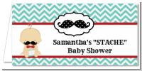 Little Man Mustache - Personalized Baby Shower Place Cards