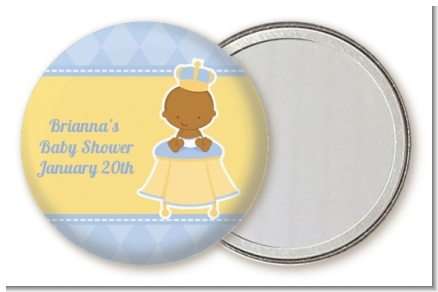 Little Prince African American - Personalized Baby Shower Pocket Mirror Favors
