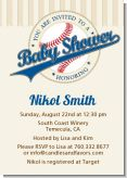 Little Slugger Baseball - Baby Shower Invitations