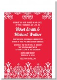 Love is Blooming Red - Bridal Shower Petite Invitations