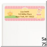Little Princess - Baby Shower Return Address Labels