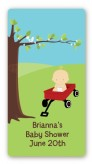 Little Red Wagon - Custom Rectangle Baby Shower Sticker/Labels