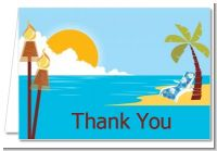 Luau - Birthday Party Thank You Cards