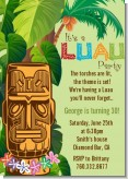Luau Tiki - Birthday Party Invitations