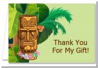 Luau Tiki - Birthday Party Thank You Cards
