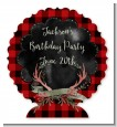 Lumberjack Buffalo Plaid - Personalized Birthday Party Centerpiece Stand thumbnail