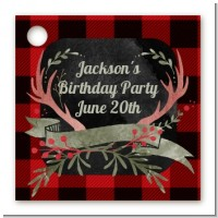 Lumberjack Buffalo Plaid - Personalized Birthday Party Card Stock Favor Tags