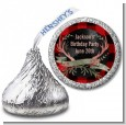 Lumberjack Buffalo Plaid - Hershey Kiss Birthday Party Sticker Labels thumbnail
