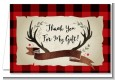 Lumberjack Buffalo Plaid - Birthday Party Thank You Cards thumbnail