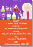 Mad Scientist - Birthday Party Invitations