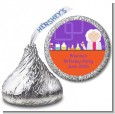 Mad Scientist - Hershey Kiss Birthday Party Sticker Labels thumbnail