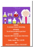 Mad Scientist - Birthday Party Petite Invitations