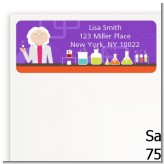 Mad Scientist - Birthday Party Return Address Labels