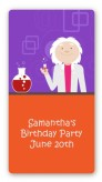 Mad Scientist - Custom Rectangle Birthday Party Sticker/Labels