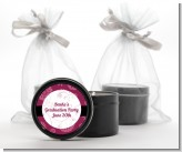 Maroon Floral - Graduation Party Black Candle Tin Favors